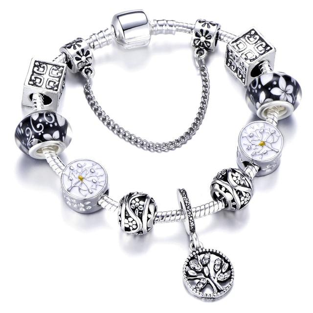 Luxurious Charms Bracelet For Crystal Fit Pandora Bracelets Bangles