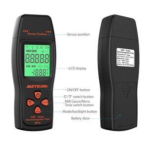Image 4 - EMF מד כף יד מיני דיגיטלי LCD EMF גלאי קרינת שדה האלקטרומגנטי Tester Dosimeter בודק דלפק