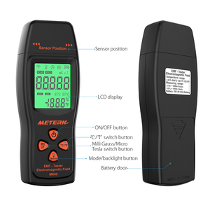 Image 4 - EMF Meter Handheld Mini Digital LCD EMF Detector Electromagnetic Field Radiation Tester Dosimeter Tester Counter