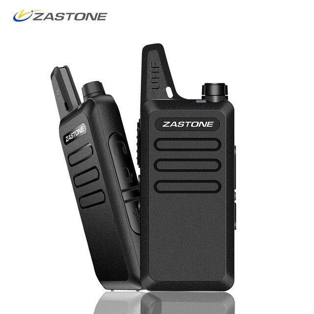 Zastone X6 Mini Walkie Talkie 400 470 UHF Walkie Talkie Portable Handheld Radio Comunicador Two Way Ham Radio