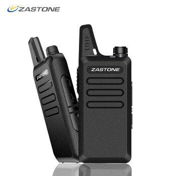 Zastone X6 Mini Walkie Talkie Pasangan Headset UHF 400-470 MHz Frekuensi Portable Handheld Radio Comunicador Dua Arah ham Radio