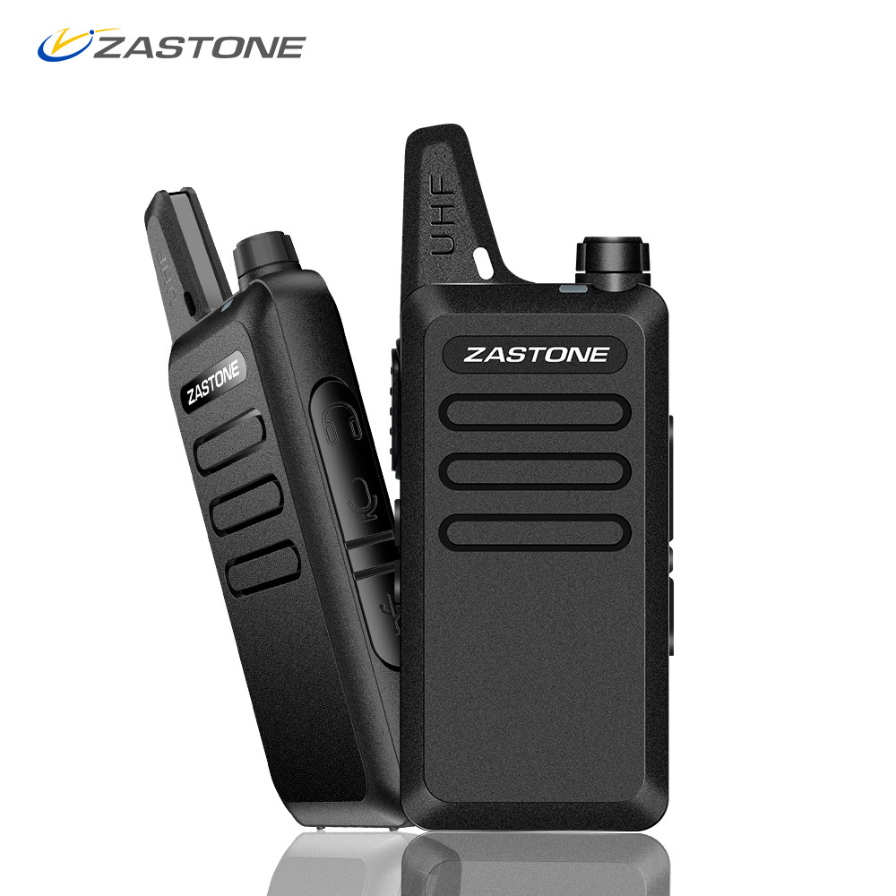 Zastone X6 Mini talkie-walkie paire casque UHF 400-470 mhz fréquence Portable Portable Radio Comunicador bidirectionnel Radio jambon
