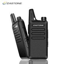 Zastone X6 Mini telsiz 400 470 UHF Walkie Talkie taşınabilir el radyosu Comunicador iki yönlü Ham radyo