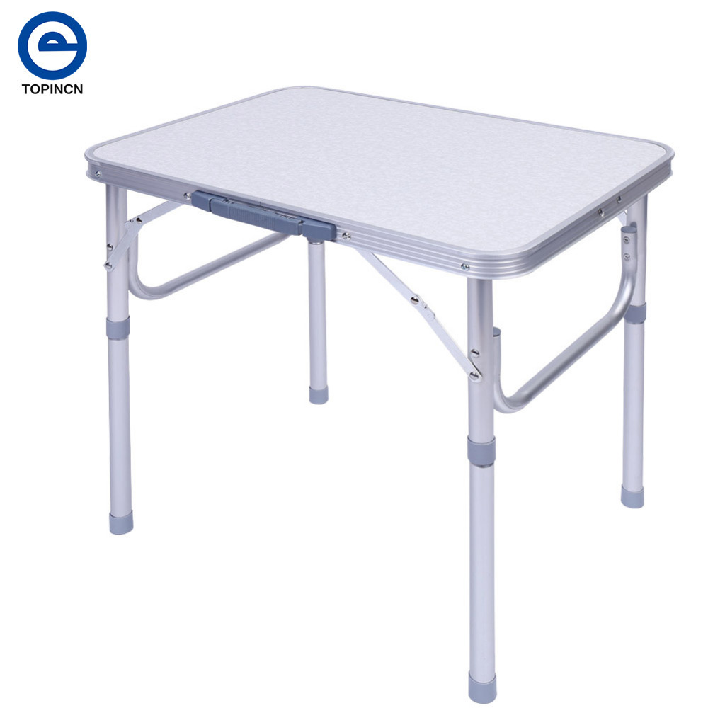 folding portable picnic table aluminum picnic table for indoor outdoor desk activity recreation dining party camping
