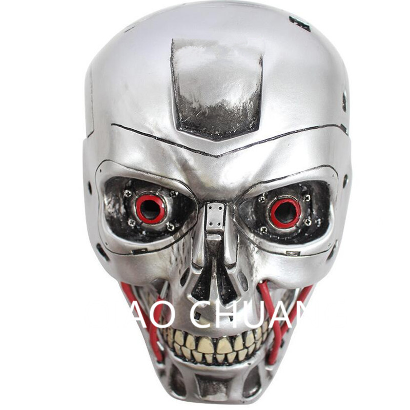 Creative Colophony Crafts Halloween Dance Mask Terminator 2 Judgment Day Robot T-1000 Mask Cosplay Props Birthday Gift G891 terminator full face mask skull mask airsoft paintball mask masquerade halloween cosplay movie prop realistic horror mask