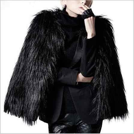 Женское пальто с искусственным мехом Clobee 2019 Женское зимнее черное меховое пальто Верхняя одежда Seyx женские с длинным рукавом Короткие искусственный Лисий мех куртки M770