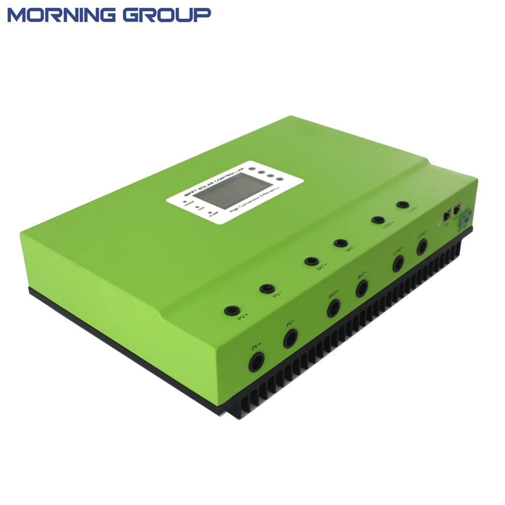 Master self-cooling heatbarrier MPPT 40A 50A 80A PV DC 48V 96V solar system charge controller with RS232 /LAN or RS485/LAN mppt solar charge controller 48v 40a 12v 24v 48v auto work with rs232 lan dc load ctrl 40a 48v pv regulator easy
