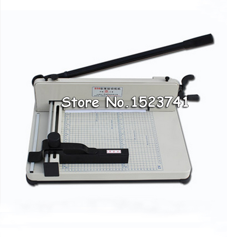 Free Shipping 858 A4 Heavy Duty 16KG All Metal Steel Ream Guillotine 12Inch A4 SIze Stack
