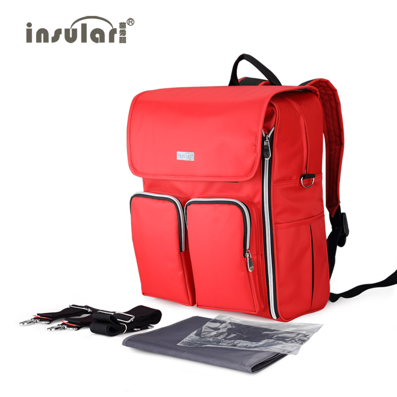 Insular women backpack High capacity Baby Diaper bag Multifunctional Nappy Bag Mommy Backpack Changing Bags