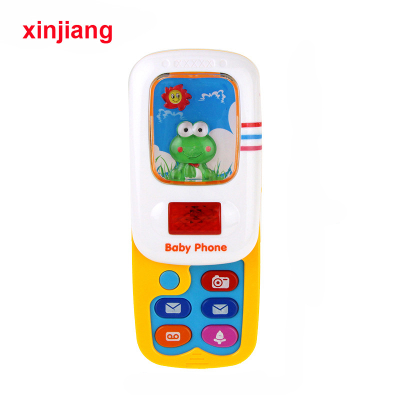 Baby Slider Phone Toys Musical Sound Phone For Children Kids Educational Toy Infant Mobile Telephone Toy Gift }