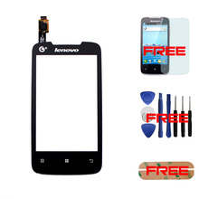 """100% Original For Lenovo A390T 4.0"""" Touch Screen Digitizer Front Glass Panel Assembly Replacement +Tools+Film+Sticker – Black"""