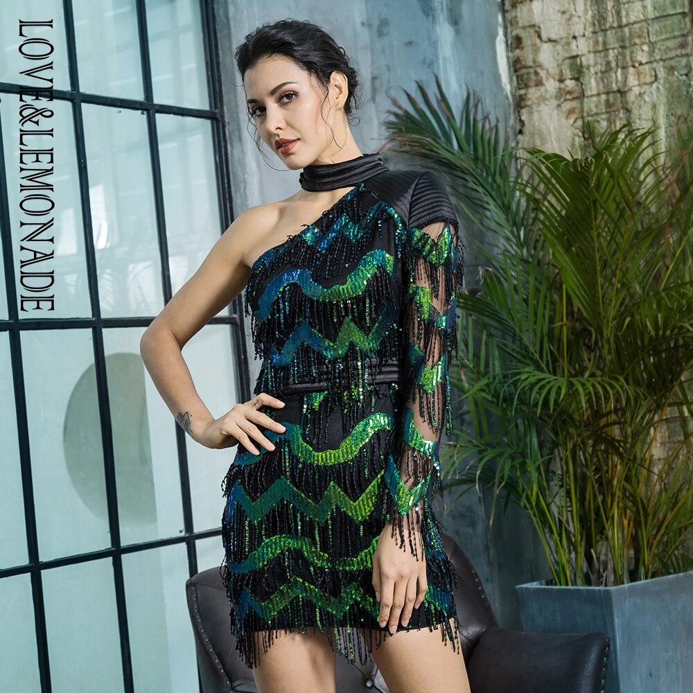 LOVE&LEMONADE פאייטים אחת שמלת