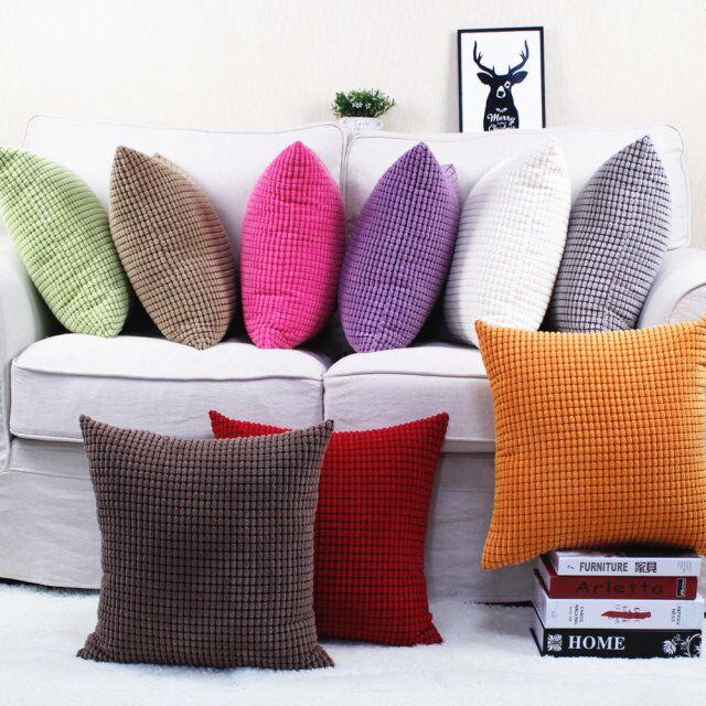 Customized velikost Candy Barva zrna Pattern manšestr polštář Obálka auto Pohovka dekorace polštářek s neviditelným zipem