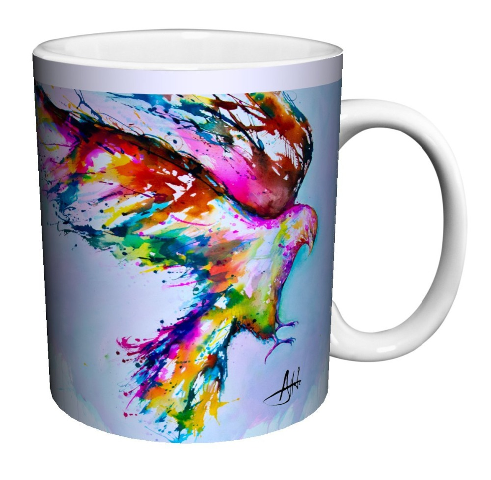 contemporary mugs promotionshop for promotional contemporary mugs  - bird in sky modern contemporary animal art porcelain gift coffee (teacocoa)  oz mug home decal tea mugen white mug