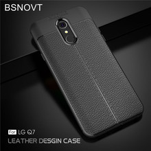 цена на For LG Q7 Case For LG Q7 Plus Soft Silicone TPU Leather Shockproof Anti-knock Cover For LG Q7 Plus Case For LG Q7A Case Q7+ 5.5