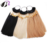 30pcs Set 27 Color 100 Asian Human Hair Color Ring Color Chart Swatch Rings For Remy