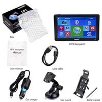 7 inch HD Car GPS Navigation Sat Nav 256/8GB Navigators Bluetooth AV IN FM MP3/MP4 Players