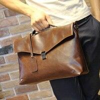Nuovo cuoio dell'unità di elaborazione borse ufficio per gli uomini valigette borsa di affari degli uomini marchio di lusso borsa lavoro valigetta laptop bag in pelle B00017