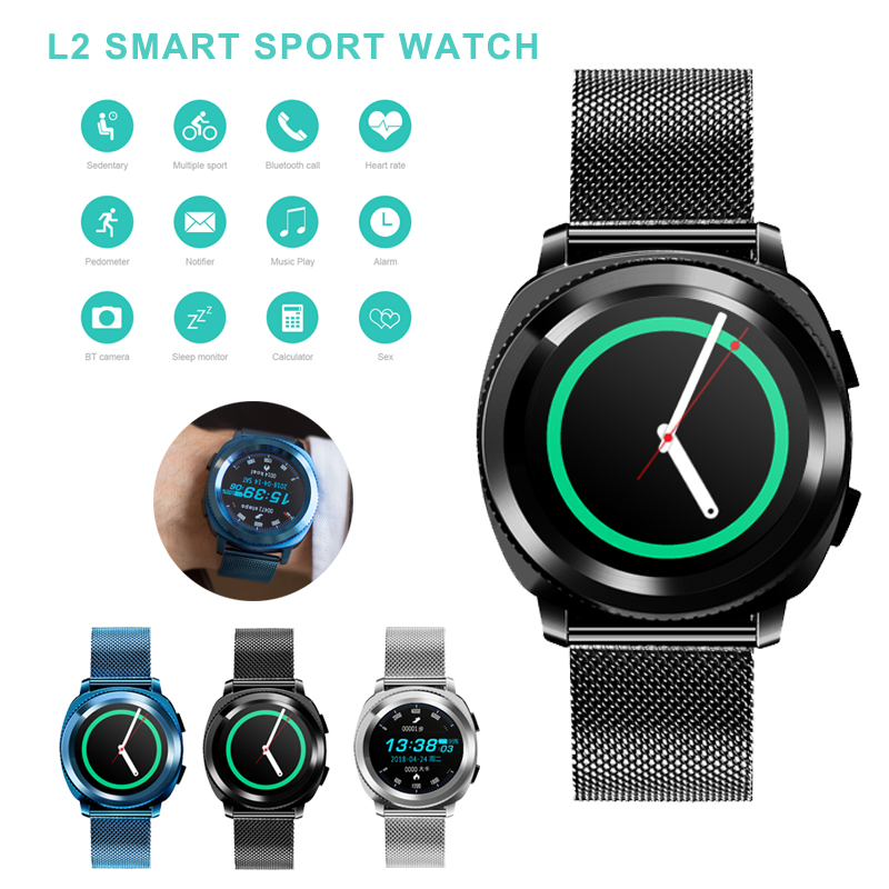 Fashion L2 Smart Watch smartwatch Bluetooth Call Swimming Waterproof BT Camera Sleep Monitor Sports Watch Heart Rate Sedentary аксессуар защитное стекло для lg k10 2017 m250 svekla full screen black zs svlgm250 fsbl