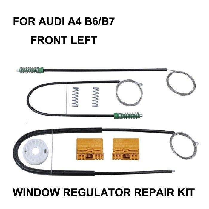 CAR WINDOW FOR AUDI A4 B6 / B7 ELECTRIC WINDOW REGULATOR REPAIR KIT FRONT LEFT OE#8E0837461,2000-2008