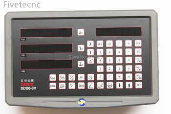 Orginal SINO SDS6-3V 3 Axis digital readout dro W 5micron KA300 linear scale KA500 linear encoder complete dro kits