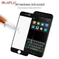 RAXFLY 3D Full Coverage Screen Protector Tempered Glass For IPhone 7 6 6s Plus 3D Anti