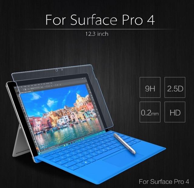 Para microsoft surface pro 4 12.3 ''tablet pc ultrafino a prueba de explosiones prima templado protector de pantalla de cristal