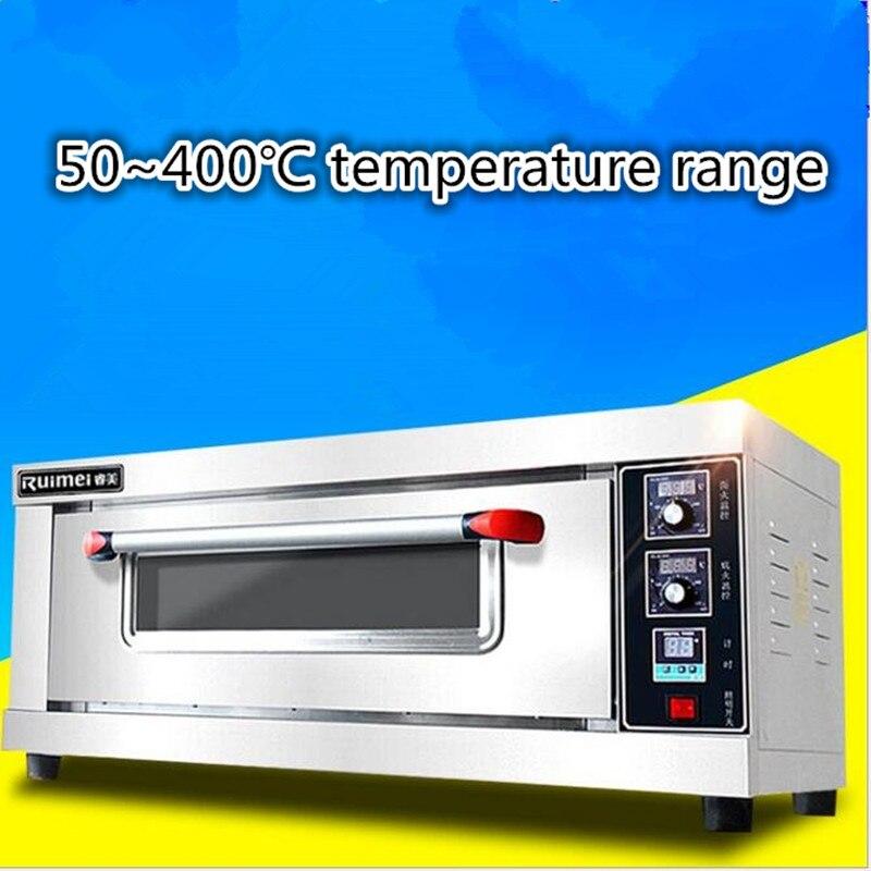 Four électrique Commercial professionnel de 380 V 50 ~ 400 degrés Celsius 1 couche 2 plateaux four à Pizza électrique cuisson gâteau gâteau tarte aux oeufs