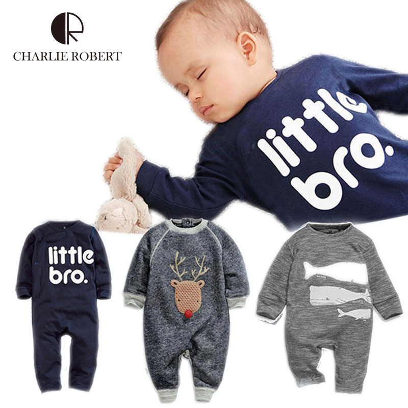 Cartoon Newborn Baby Clothing Girls Boys Bodysuit Long Sleeve Newborn Infant Clothes Cotton Deer Jumpsuit Kids Baby Boy Costumes cotton newborn infant baby boys girls clothes rompers long sleeve cotton jumpsuit clothing baby boy outfits