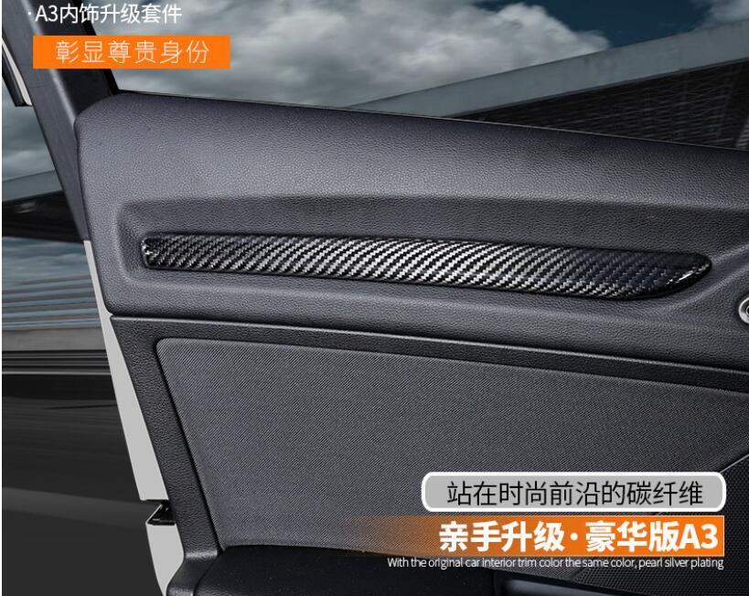 For Audi A3 8 V 2014 2018 New Real Carbon Fiber Interni All 39 Interno Interna Porta Della