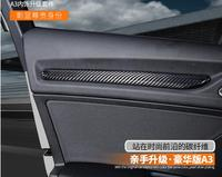 for Audi A3 8 V 2014 2018 New Real Carbon Fiber Interni All'interno Interna Porta Della Copertura Della Banda Trim 7 pz