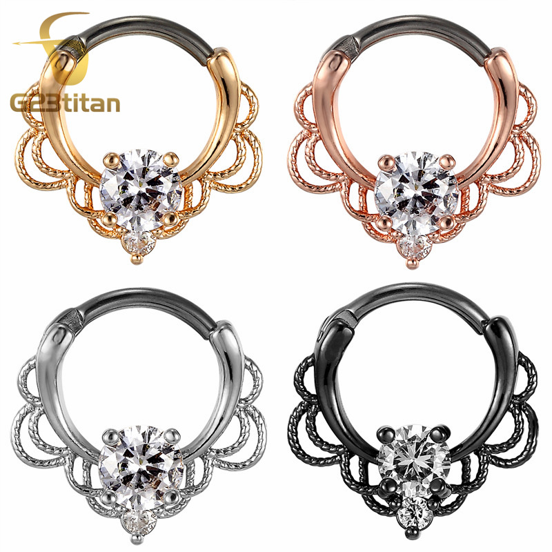 G23titan 16G Nose Piercing Ring Indian Septum Clicker Nose Rings Piercing Body Jewelry Hoops Helix Piercing Ear Cartilage Gifts in Body Jewelry from Jewelry Accessories