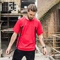 Novo 2017 Harajuku Hip Hop T Shirt Homens Sólida Estendido T-shirt de Grandes Dimensões Homens Streetwear Skate Camisetas Roupas Ganhos Camisetas
