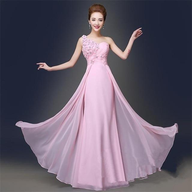 Vestidos de graduacion color rosa