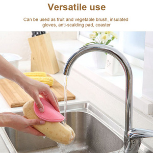 Image 5 - Newly Silicone Wash Dish Brush Multipurpose Antibacterial Cleaning Kitchen Tool 1XSD88