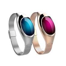 Женщины моды z18 smart watch браслет артериального давления монитор сердечного ритма шагомер фитнес-трекер для android ios