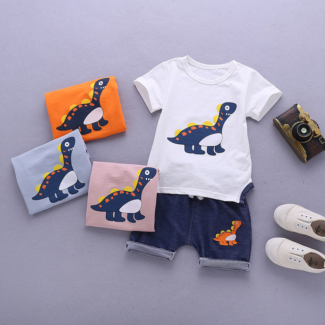 Newborn Orange And Blue Clothing Set For Baby Boy 2