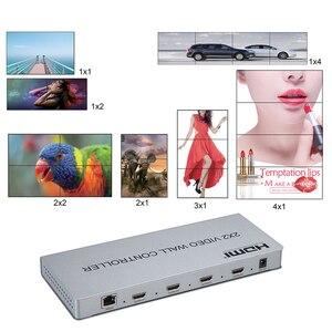 Image 3 - Novo 2x2 controlador de parede de vídeo 1 hdmi/dvi entrada 4 saída hdmi 1080 p processador de vídeo suporte 1x2/2x1/3x1/1x4/4x1 com rs232