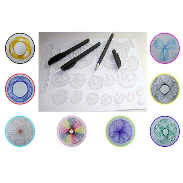 Nuevo Spirograph deluxe Creative Draw Spiral Design Interlocking ...
