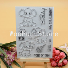 CS1112 Scrapbook DIY Photo Album Cards Transparent Acrylic Silicone Rubber Clear Stamps Sheet  11X16CM Tons of Fun