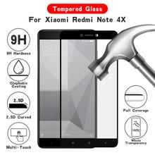 Твердость 9H 2.5D изогнутое стекло с полным покрытием для Xiaomi Redmi Note 4X Закаленное стекло Защитная пленка для экрана для Redmi Note 4X