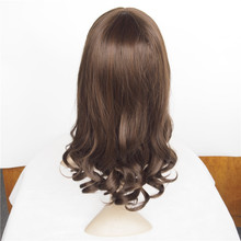Amapro Hair Products Synthetic Curly Wig Lace Front Brown Color 20inch 220g Rihanna's Hairstyle Perruque Lace Front Synthetic
