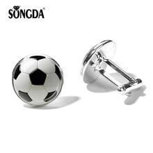 SONGDA Novelty Football Cufflinks for Mens Sport Fashion Soc