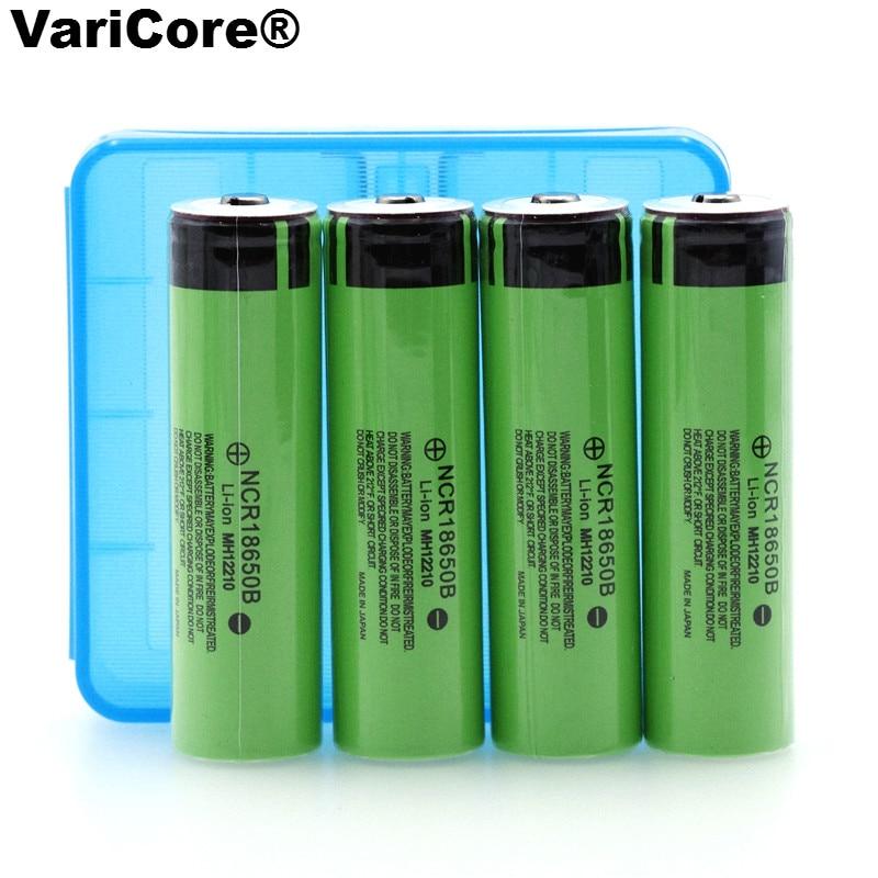 4 шт. новый оригинальный <font><b>18650</b></font> 3.7 В <font><b>3400</b></font> мАч литиевых Перезаряжаемые Батарея NCR18650B с острым (NO печатной платы) для panasonic батарей + коробка