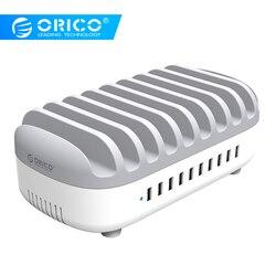 ORICO 10 Порты USB Зарядное устройство Док-станция с держателем 120 Вт 5V2. 4A * 10 зарядка через USB для смартфонов Tablet PC Применить для дома общественных