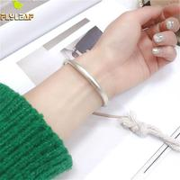 Flyleaf Real 100% 999 Pure Silver Bracelet Bangle For Women Fashion Fine Jewelry Cuff Bangles High Quality Push pull Adjustment