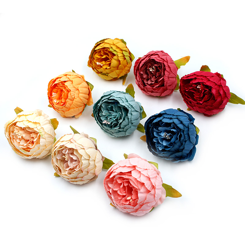 1pcs/lot 19 Colors 10cm Silk Peony Handmade Artificial Flower for Wedding Home Decor DIY Shoe Hat Accessories Flowers