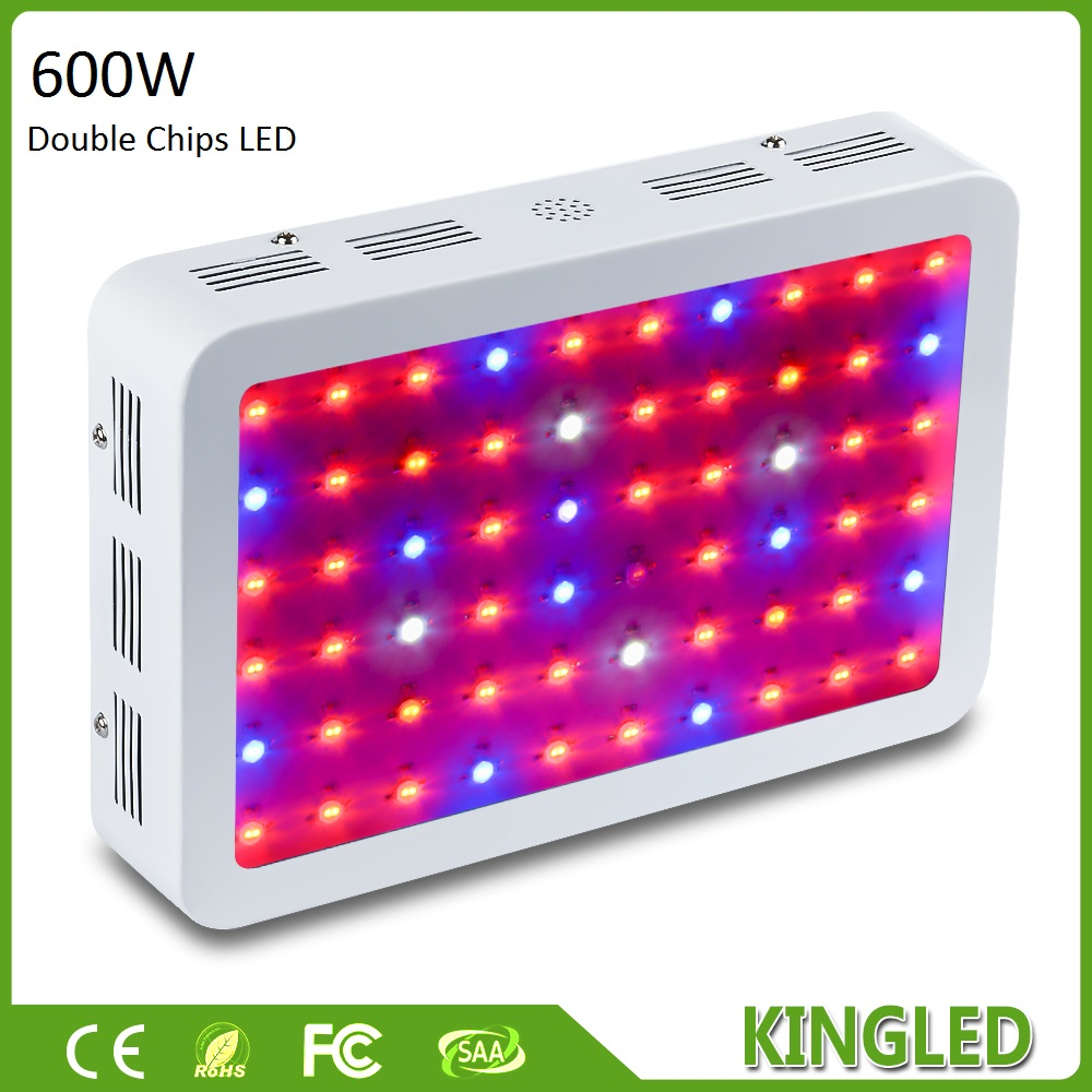 KingLED 600W 800W 1000W Double Chips LED Grow Light Full Spectrum For Indoor Plants Flowering and Growing with Very High Yield 4pcs kingled 1200w powerful full spectrum led grow light panel for plants flowering and growing led plant lights