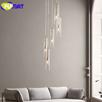 FUMAT Modern Pendant Lamps Copper Glass pendant lights LED Living Room Hanglamp Loft hanging light fixture Dining room Lamp