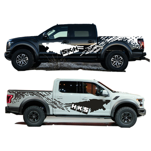 Image 4 - Cool Sticker For Nissan NAVARA Frontier Personality Car Styling Funny DIY Decal Car Whole Body Car Decoration 2pcs Car Styling